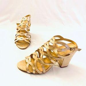 Vince Camuto Gold Sparkle Heels